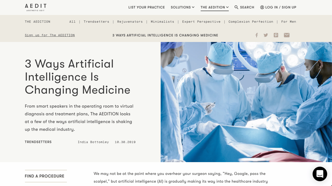 3 Ways Artificial Intelligence Is Changing Medicine