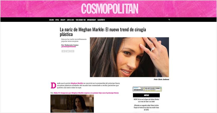 La nariz de Meghan Markle: El nuevo trend de cirugía plástica