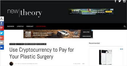 Use Cryptocurrency to Pay for Your Plastic Surgery