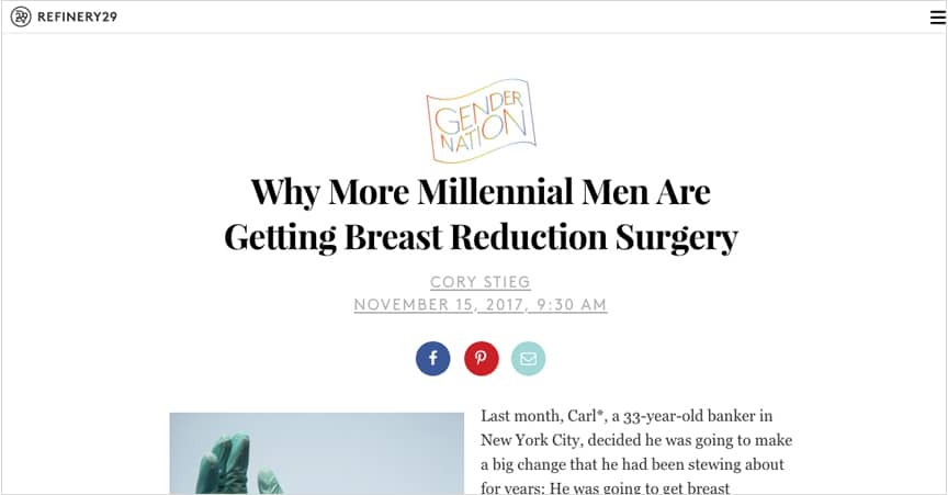 Why This Millennial Man Chose To Get Breast Reduction Surgery